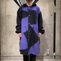 "90s ""MACHINE"" switching design cotton coat"
