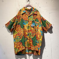 open collar rayon S/S shirt