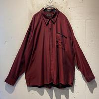 90s L/S rayon shiny shirt