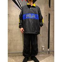 "90s ""FILA"" half zip nylon jacket"