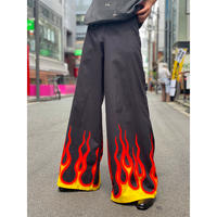 90s〜 fire pattern flare pants