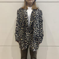 90s leopard patterned easy tailored jacket
