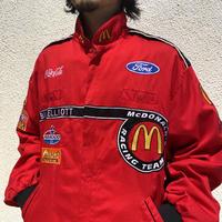 "90s~ ""McDonald's"" racing jacket"
