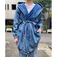 drape design denim jacket