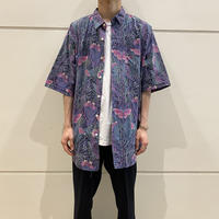 90s~ all patterned cotton shirt