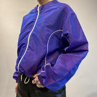 old short & wide shiny jacket