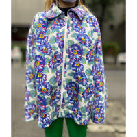 70s〜flower pattern fleece jacket