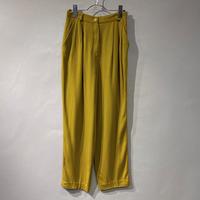 80s three tucks rayon slacks pants