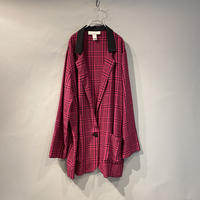 checked easy tailored jacket