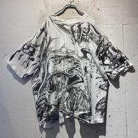 90s〜 full print design T-shirt