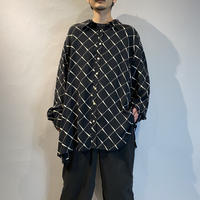 00s〜 oversized design rayon shirt