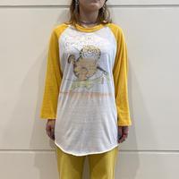 80s~ hand painted raglan sleeve T-shirt