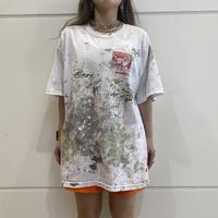 90s~ painting print T-shirt