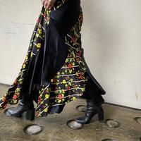 old flower design flare skirt