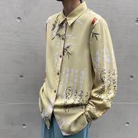 漢字 design poly L/S shirt