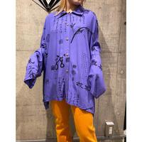 oversized rayon china design shirt