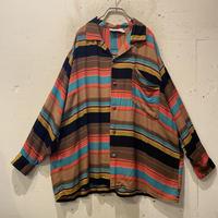 open collar border L/S shirt