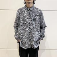 90s〜L/S leopard patterned shirt