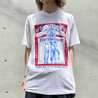 "90s dead stock ""Buttwiser"" printed tee"