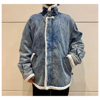 90s denim B-3 jacket