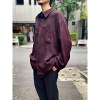 90s L/S  design shirt (BLK×RED)