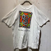 80s art printed T-shirt