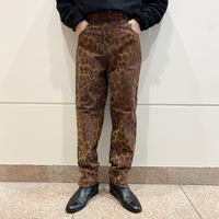 80s slit design leather pants
