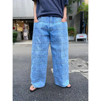 90s design wide denim pants