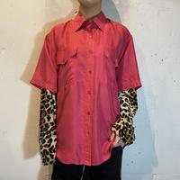 double pocket S/S silk shirt