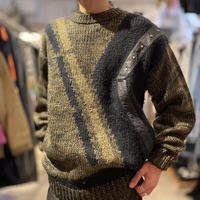 90s switching design knit sweater