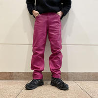 leather tapered pants (PNK)