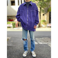 oversized zip up corduroy shirt(PPL)