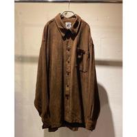 oversized fake suède shirt(BRW)
