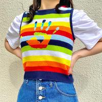 """Mudd"" cotton×ramie  knit vest"