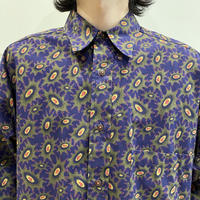 90s L/S all patterned cotton shirt
