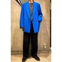 90s shiny design double breasted jacket
