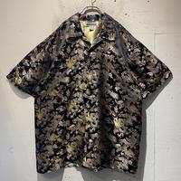 dragon pattern shiny S/S shirt