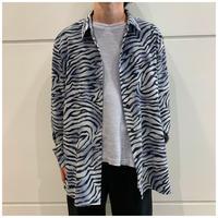 90s zebra pattern shirt
