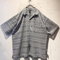 oversized mesh design S/S shirt