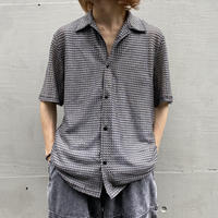 90s s/s mesh shiny shirt