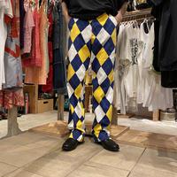 old argyle patterned design pants