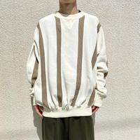 90s striped design sweat shirt