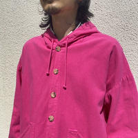 90s hooded cotton shirt (PNK)