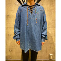 "90s〜 ""GUESS"" denim lace up pullover"