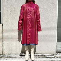90s reversible shiny long coat