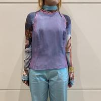 80s shiny design vest