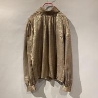 old python pattern shiny blouse