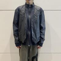 old lace up design leather vest