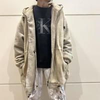 oversized  switching design fleece hoodie