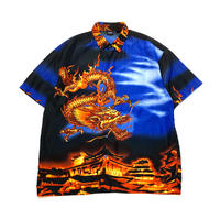 90s〜 s/s dragon patterned shirt